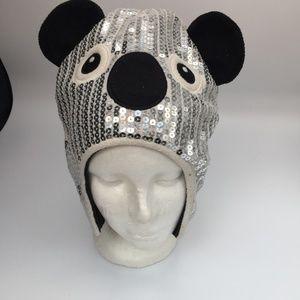 The Children's Place Panda Sequin Winter Hat